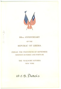 Thumbnail of Republic of Liberia centennial celebration program