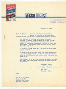 Thumbnail of Letter from Negro Digest to W. E. B. Du Bois