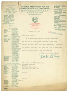 Thumbnail of Letter from Leslie S. Perry to W. E. B. Du Bois