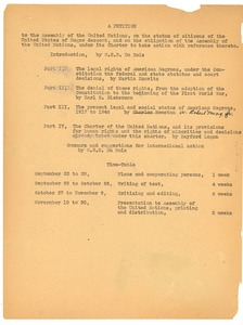 Thumbnail of A  Petition to the Assembly of the United Nations