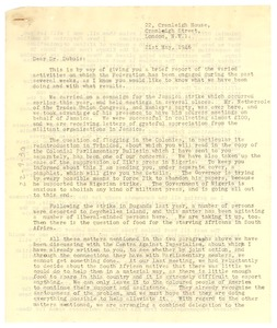 Thumbnail of Letter from Pan-African Federation to W. E. B. Du Bois