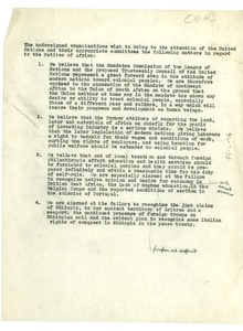 Thumbnail of Petition from Pan African Congress to United Nations