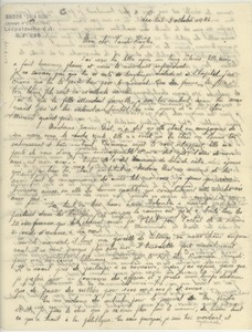 Thumbnail of Letter from Joseph d'Oliveira to Joseph Vanderkuylen