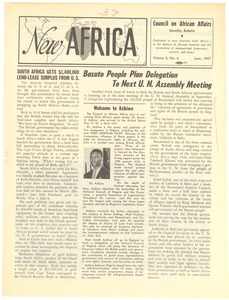 Thumbnail of New Africa volume 6, number 6