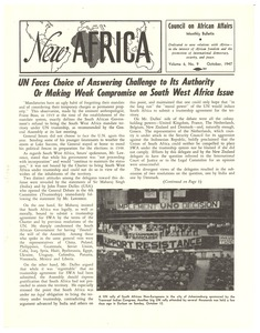 Thumbnail of New Africa volume 6, number 9