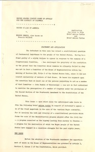 Thumbnail of United States v. Eugene Dennis Brief Amicus Curiae application