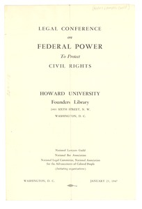 Thumbnail of Civil Rights Conference program
