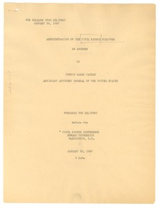 Thumbnail of Administration of the Civil Rights Statutes