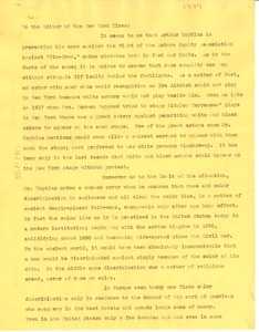 Thumbnail of Letter from W. E. B. Du Bois to New York Times Company