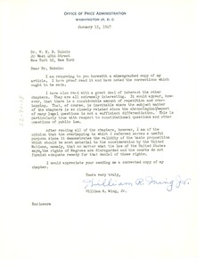 Thumbnail of Letter from William R. Ming, Jr. to W. E. B. Du Bois
