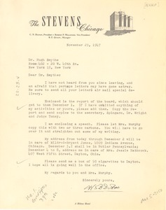 Thumbnail of Letter from W. E. B. Du Bois to Hugh H. Smythe