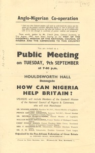 Thumbnail of Pan African Federation public meeting announcement