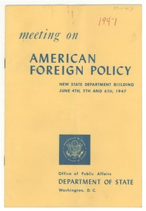 Thumbnail of American Foreign Policy meeting program