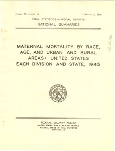 Thumbnail of Maternal mortality by race, age, and urban and rural areas