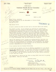Thumbnail of Letter from American Friends Service Committee to NAACP