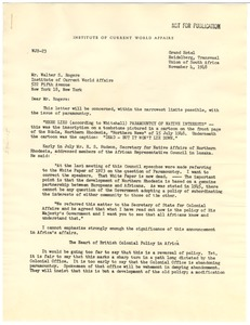 Thumbnail of Memorandum from Whitman J. Severinghaus to Walter S. Rogers