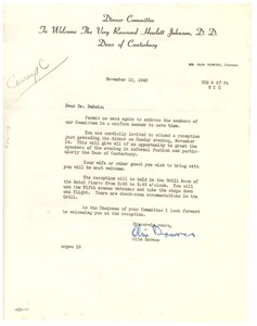 Thumbnail of Circular letter from Johnson Dinner Committee to W. E. B. Du Bois