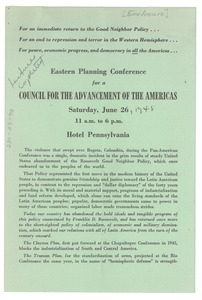 Thumbnail of Eastern Planning Conference for a Council for the Advancement of the Americas