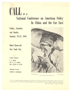 Thumbnail of Call to a National Conference on American Policy in China and the Far East