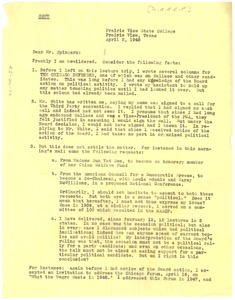 Thumbnail of Letter from W. E. B. Du Bois to Arthur Spingarn