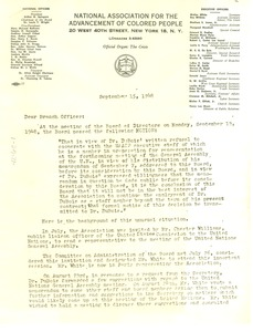 Thumbnail of Circular letter from Roy Wilkins to NAACP