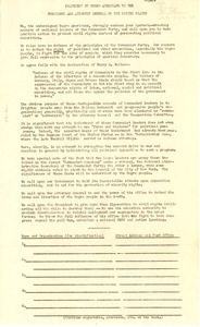 Thumbnail of Statement by Negro American to the President and Attorney General of the United States