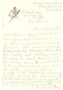 Thumbnail of Letter from Cornelius E. Wilkey to Langston Hughes