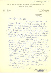 Thumbnail of Letter from R. E. G. Armattoe to W. E. B. Du Bois
