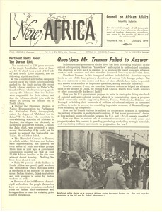 Thumbnail of New Africa volume 8, number 1