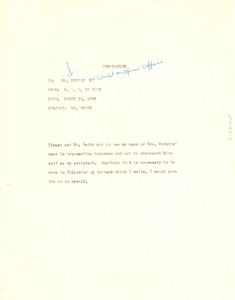 Thumbnail of Memorandum from W. E. B. Du Bois to Council on African Affairs