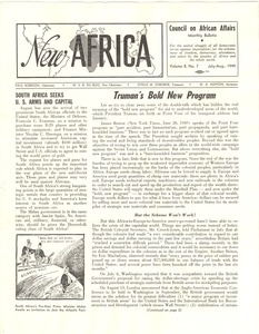 Thumbnail of New Africa volume 8, number 7