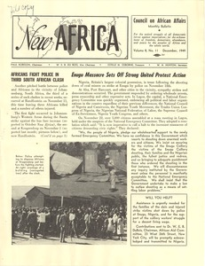 Thumbnail of New Africa volume 8, number 11