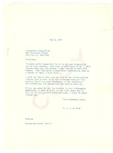 Thumbnail of Letter from W. E. B. Du Bois to Dictaphone Corporation