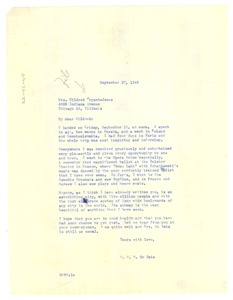 Thumbnail of Letter from W. E. B. Du Bois to Mildred Bryant Jones