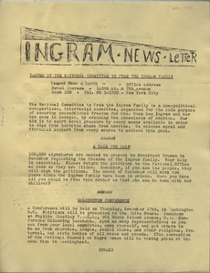 Thumbnail of Ingram newsletter