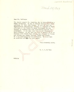 Thumbnail of Letter from W. E. B. Du Bois to National Guardian