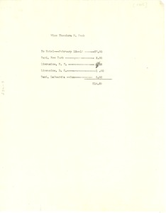 Thumbnail of Invoice from W. E. B. Du Bois to Progressive Party