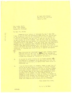 Thumbnail of Letter from W. E. B. Du Bois to Lasker Smith