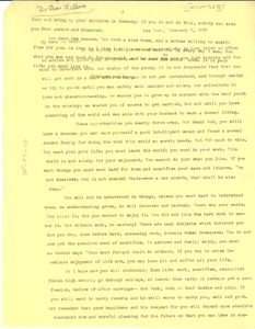 Thumbnail of Letter from W. E. B. Du Bois to Du Bois Williams