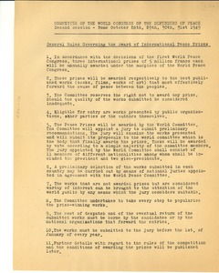 Thumbnail of General rules governing the award of international peace prizes