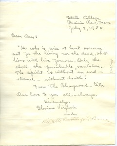 Thumbnail of Letter from Glovina Virginia Perry and William Rutherford Banks to W. E. B. Du Bois