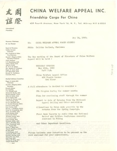 Thumbnail of Circular letter from China Welfare Appeal to W. E. B. Du Bois
