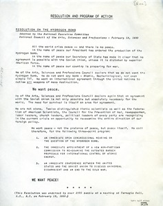 Thumbnail of Resolution and program of action