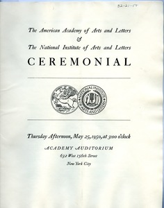 Thumbnail of Annual ceremonial program