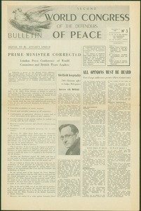 Thumbnail of Second World Congress of the Defenders of Peace number 3