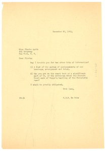 Thumbnail of Letter from W. E. B. Du Bois to Gloria Agrin