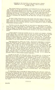 Thumbnail of Statement of the delegation Submitted to the Hon. George Marshall, Secretary of Defense
