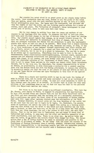 Thumbnail of Statement of the delegation of the American Peace Committee Submitted to the Hon. Dean Acheson, Secretary of State