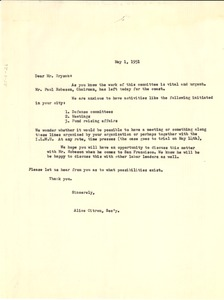 Thumbnail of Letter from National Committee to Defend Dr. W. E.             B. Du Bois & Associates to Hugh Bryson