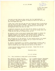 Thumbnail of Circular letter from W. E. B. Du Bois